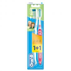 ORAL_B Зубная щетка 3-Effect Натуральная Свежесть 40 средняя 1+1шт бесплатно