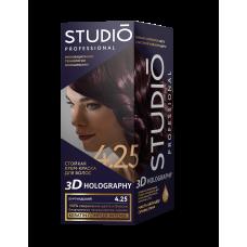 Крем-краска Studio (Студио) 3D HOLOGRAPHY (ГОЛОГРАФИЯ) 4.25 Бургундский
