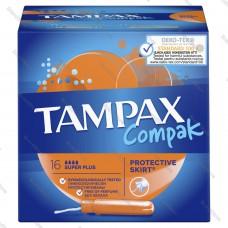 Тампоны женские с аппликатором TAMPAX (ТАМПАКС) Compak  Super Plus 16шт