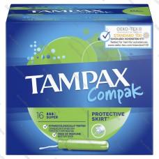 TAMPAX (ТАМПАКС) Compak Тампоны женские с аппликатором Super 16шт