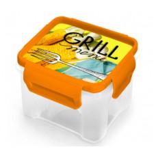 Контейнер GRILL MENU квадратный для СВЧ 900мл /Полимербыт