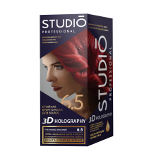 Крем-краска Studio (Студио) 3D HOLOGRAPHY (ГОЛОГРАФИЯ)  6.5 Рубиново-красный