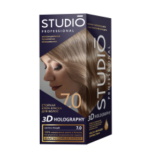 Крем-краска Studio (Студио) 3D HOLOGRAPHY (ГОЛОГРАФИЯ)  7.0 Светло-русый