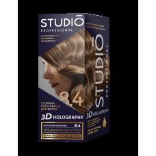 Крем-краска Studio (Студио) 3D HOLOGRAPHY (ГОЛОГРАФИЯ)  8.4 Молочный шоколад