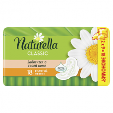 Женские прокладки ароматизир с крылышками NATURELLA (НАТУРЕЛЛА) Classic Camomile Normal 18шт