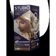 Крем-краска Studio (Студио)  3D HOLOGRAPHY (ГОЛОГРАФИЯ) 90.102 Платиновый блондин