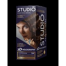 03074 Крем-краска 3.4 Горький шоколад Studio (Студио)/Big/Клевер