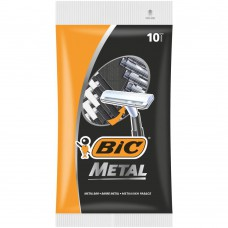 Бритва, бритвы. мужская одноразовая БИК Метал уп. 10 (BIC Metal)