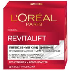 """L'Oreal Paris (Лореаль) Дневной антивозрастной крем """"Ревиталифт"""" для лица, против морщин, 50 мл"""