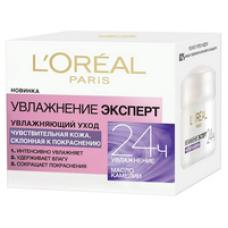 """L'Oreal Paris (Лореаль)Крем для лица """"Увлажнение Эксперт"""" увлажняющий, для чувствительной кожи, склонной к покраснениям, 50 мл"""
