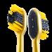 Colgate (Колгейт) 360 Золотая с древесным углем многофункциональная зубная щетка, мягкая