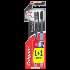 Colgate (Колгейт) Шелковые Нити зубная щетка с древесным углем для здоровья десен, мягкая, промоупаковка 1+1