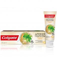 COLGATE (Колгейт) Древние Секреты Укрепление эмали (Женьшень) зубная паста с натуральными экстрактами, 75 мл