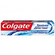 COLGATE (Колгейт) Тройное Действие Экстра Отбеливание зубная паста, 100 мл