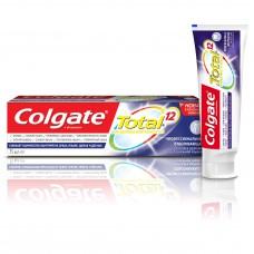 COLGATE (Колгейт) Total 12 Профессиональная Отбеливающая комплексная антибактериальная зубная паста, 75 мл