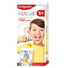 Colgate (Колгейт) Magik детская зубная щетка с приложением для чистки зубов 5+, супермягкая