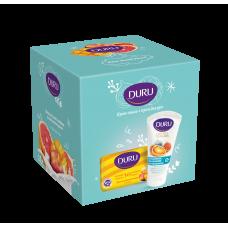 9798 Подарочный набор DURU (Дуру) мыло персик 80г+крем для рук инжир 75мл