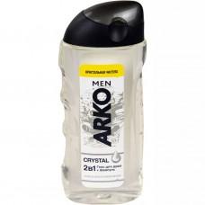 0874 Гель-шампунь для душа Arko (Арко) Men 2in1 Body & Hair Shower Gel Crystal кристальная чистота 260 ml