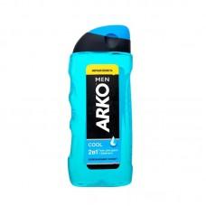 0867 Гель-ш-нь д/душа Arko Men 2in1 Body & Hair Shower Gel Cool 260 ml
