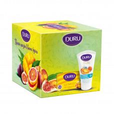 """Подарочный набор """"Дуру""""(мыло персик манго 80г+крем для рук инжир 75мл"""