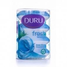 4650 Мыло DURU (Дуру) FRESH SENSATIONS мыло OCEAN BREEZE Океанский бриз 4*110г