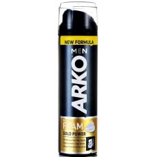 504290 Пена для бритья ARKO (Арко) MEN GOLD POWER с жёсткой щетиной 200 мл.