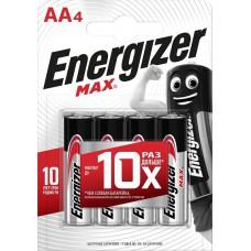 Батарейка ENERGIZER (Энерджайзер) Alkaline MAX E91/AA FSB4