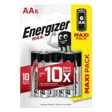 Батарейка ENERGIZER (Энерджайзер) Alkaline MAX E91/AA FSB6