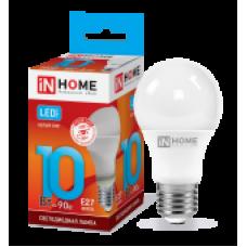 Лампа светодиодная LED-A60-VC 10Вт 230В Е27 4000К 900Лм IN HOME