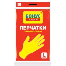 БОНУС Перчатки латексные L