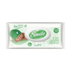 SMILE Baby Смайл Бэби Салфетка влажная с  клапаном, 100  шт NEW BORN Россия