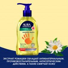 Жидкое мыло для всей семьи с антибактериальным эффектом AURA (Аура) РОМАШКА флакон/дозатор 300мл