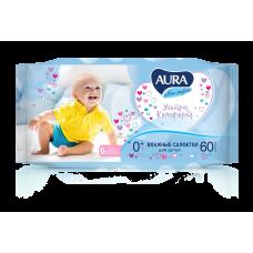 Влажные салфетки AURA (Аура) ULTRA COMFORT для детей 60шт