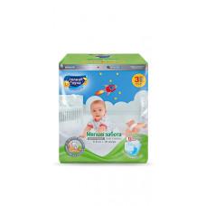 Подгузники для детей СОЛНЦЕ И ЛУНА МЯГКАЯ ЗАБОТА 3/M 4-9 кг small-pack 16шт.