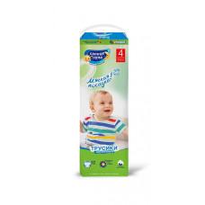 Трусики-подгузники для детей одноразовые СОЛНЦЕ И ЛУНА МЯГКАЯ ЗАБОТА 4/L 9-14 кг standard-pack 32шт.