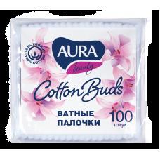 Ватные палочки AURA (Аура) п/э пакет 100шт.