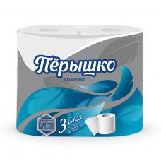 Туалетная бумага Перышко Comfort (Комфорт) 3сл 4рул