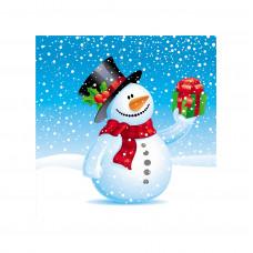 """Перышко"" Prestige снеговик с подарками 3сл 20ш"