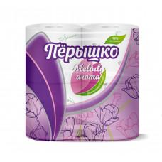 Туалетная бумага Перышко Melody (Мелоди) 3сл 4рул