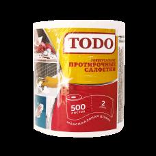 Салфетки бумажные TODO (ТОДО) Универсальные протирочные 500шт 2сл 1рул