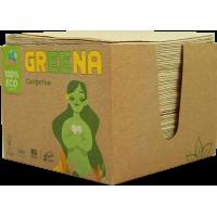 Экологические салфетки Greena 24х24 в коробке 2сл 85л