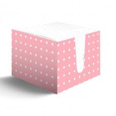 Салфетки Лилия 24х24 в коробке в розовый горох 1сл 100л