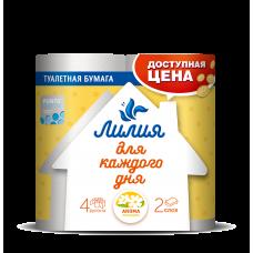 Туалетная бумага Лилия Ромашка 2сл 4рул
