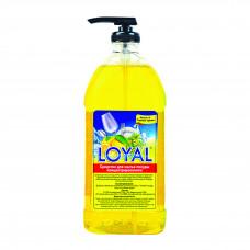"""Средство для мытья посуды концентрированное """"LOYAL"""" (ЛОЯЛ) Лимон и Горные травы 1000 мл / Иордания"""