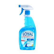 Средство для мытья окон, стеклянных поверхностей и зеркал LOYAL (ЛОЯЛ) 750 мл / Иордания