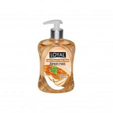 """Жидкое мыло для рук и тела """"LOYAL"""" (Лоял) - Янтарь и Пачули 500 мл / Иордания"""