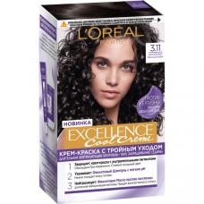 """L'Oréal Paris (Лореаль Париж) Стойкая крем-краска для волос """"Excellence Cool Crème"""" (Экселланс), оттенок 3.11, Ультрапепельный, Темно-Каштановый"""