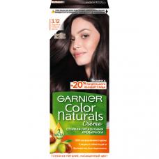 """Garnier (Гарньер) Стойкая питательная крем-краска для волос """"Color Naturals"""" (Колоч Нэчралс) с 3 маслами, оттенок 3.12, Ледяной Темный Шатен, 110 мл"""