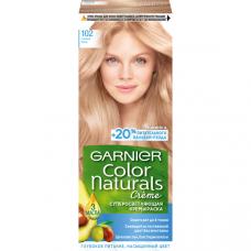 """Garnier (Гарньер) Стойкая крем-краска для волос """"Color Naturals"""", естественный цвет без желтизны, оттенок 102, Снежный Блонд, 110 мл."""