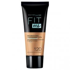 """Maybelline New York (Мейбеллин Нью Йорк) Тональный крем для лица """"Fit Me"""" (Фит Ми), матирующий, скрывающий поры, Оттенок 120, Классический Бежевый, 30 мл"""